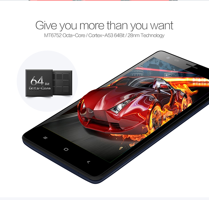 Mlais M52 Red Note MTK6752 64bit Octa Core 1.7GHz 5.5 inch HD IPS OGS Screen Android 5.0 4G LTE Smartphone 2GB RAM 16GB ROM 13.0MP Camera