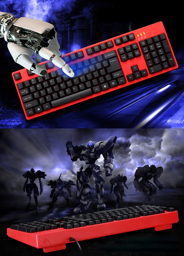 Motospeed K40 Wired Optical Gaming Keyboard Professional USB Powered for Home Office