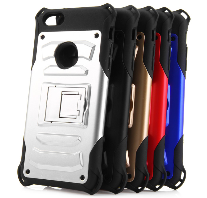 Practical Plastic and TPU Protective Back Case with Support Design for iPhone 6 Plus - 5.5 inch