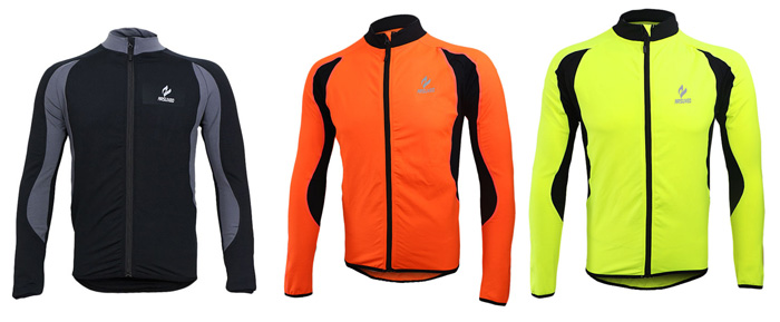 Arsuxeo 130022 Cycling Jersey Bike Bicycle Running Long Sleeve Clothes for Male