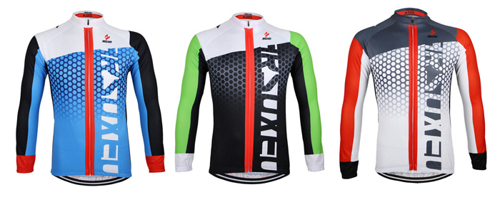 Arsuxeo ZLJ21Q Cycling Jersey Bike Bicycle Running Long Sleeve Clothes for Male