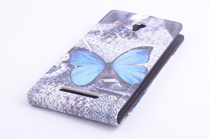 PU Leather Special Vertical Painting Fold Case for Elephone P6000 Smartphone