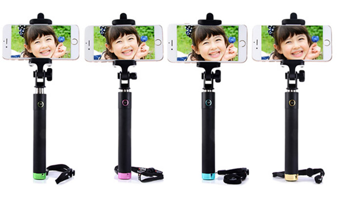 Bluetooth V3.0 Remote Control Stretch Selfile Monopod Camera Shutter with 270 Degrees Rotatable Clip Bracket for iPhone 6 / 6 Plus 5 5S Samsung HTC etc.
