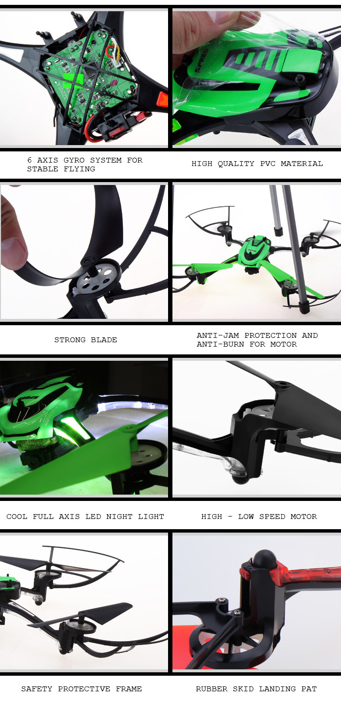 HT F802C WiFi Real Time Transmission Headfree 6 Axis Gyro 4CH RC Quadcopter with 0.4MP Camera