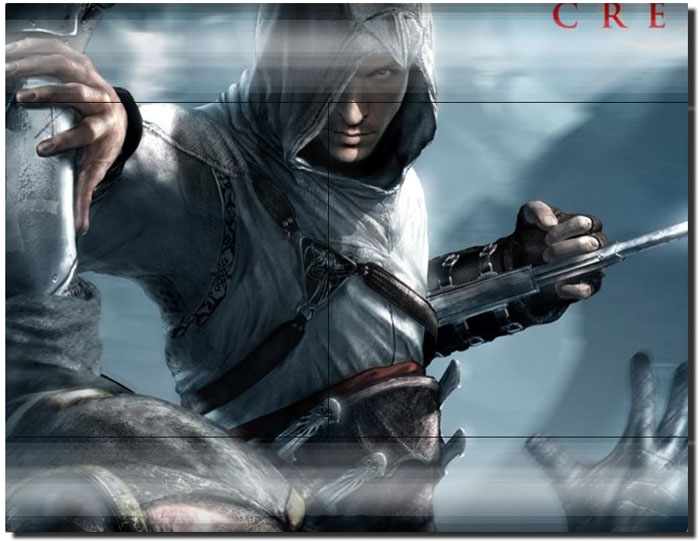 Alairt of Assasin Creed Pattern Stickers for PS3 Remote Controller and Playstation