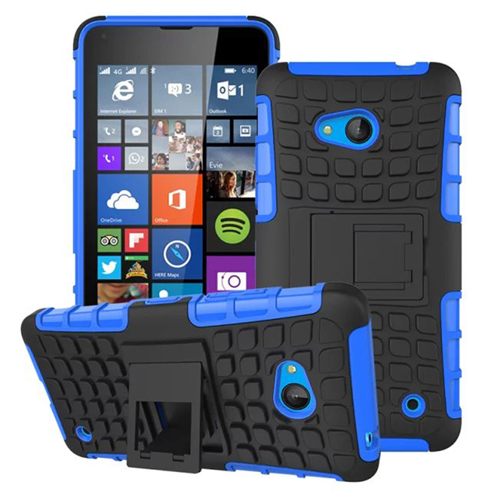 TPU and PC Material Support Protective Back Cover Case of Tire Pattern Design for Microsoft Lumia 640