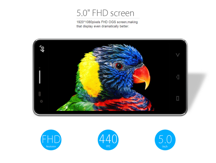 Elephone P3000S 3GB RAM Android 4.4 Smartphone 4G LTE Phablet 5.0 inch FHD IPS OGS Screen MTK6752 64bit Octa Core 1.7GHz 16GB ROM 13.0MP Camera