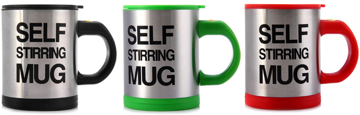 Double Insulated Self Stirring Mug 400ml Electric Coffee Cup Perfect Souvenir