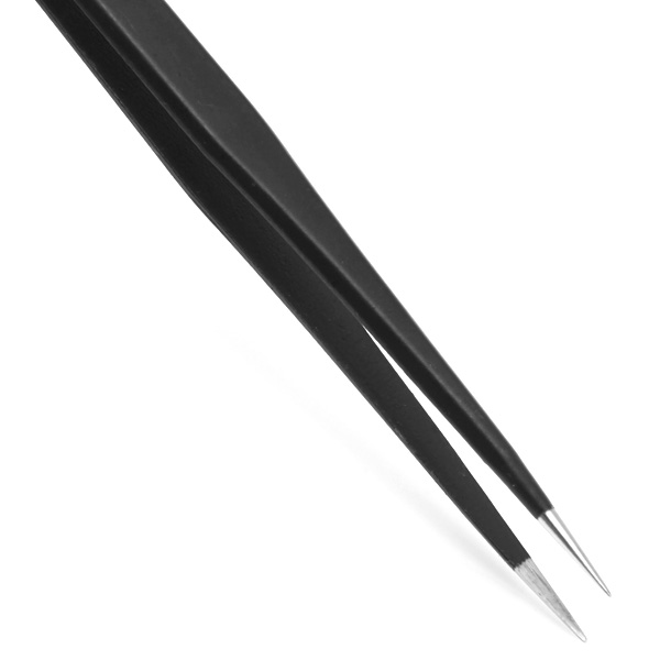WLXY ESD - 2011 Stainless Steel Antistatic Straight Tweezers Sharp Pointed End