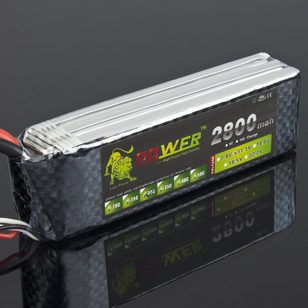 Lion Power Rechargeable 11.1V 2800mAh 30C Lipo Battery