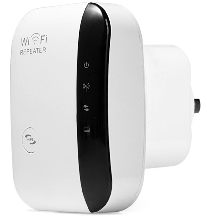 WR03 High Security 2.4GHz 300Mbps WiFi Repeater Router Wireless Signal Extender for Desktop Laptop ( AC 100 - 240V )