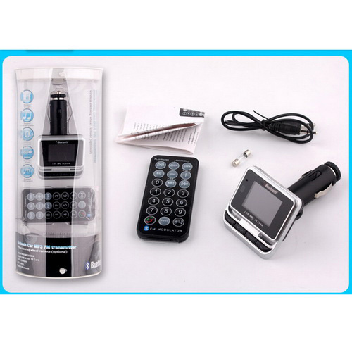 Wireless Bluetooth V2.0 Handsfree Speakerphone Car Kit MP3 FM Transmitter for Music Phonecalls