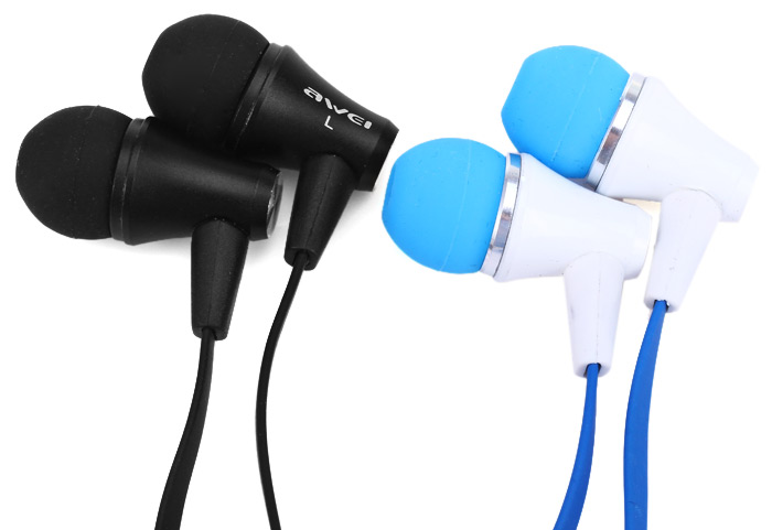 Awei ES - 300i Noise Isolation In-ear Earphone with 1.2m Cable Mic for Smartphone Tablet PC