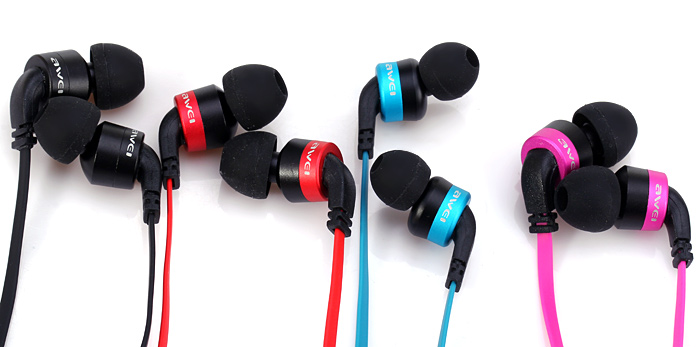 Awei ES - 13i Noise Isolation In-ear Earphone with 1.2m Cable Mic for Smartphone Tablet PC