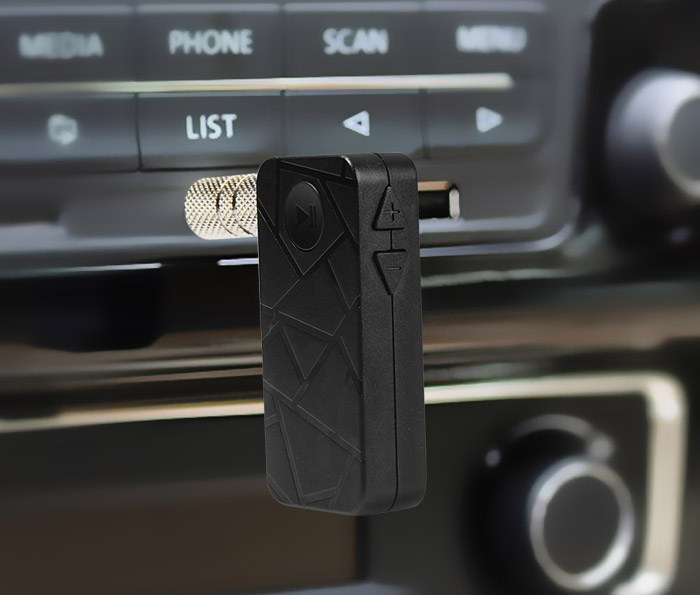 LinK BT06 Wireless Bluetooth V4.1 Audio Music Streaming Receiver Adapter with 3.5mm Stereo Output and Hands Free Calling for Car