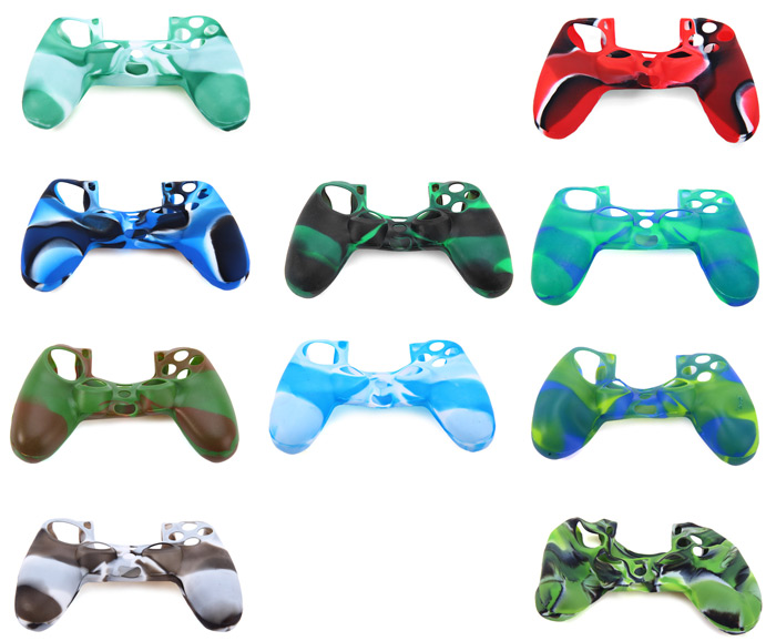 Silicone Gel Protective Case Cover Anti-slip / Anti-sweating for Sony PS4 Controller