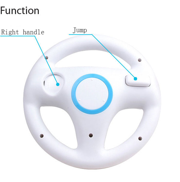 Mario Kart Racing Game Playing Wheel for Nintendo WII Remote Controller ( Authentic Feeling of Driving )
