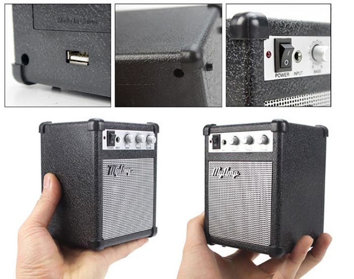 Classic Electronic My Amp Speaker High Bass Guitar Amplifier Miniature Portable Speaker