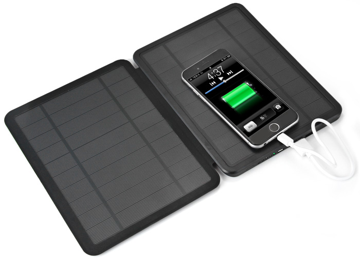 Innovative 10000mah Foldable 4 5w 9w Solar Charger Outdoor Camping Power Supply Dual Usb