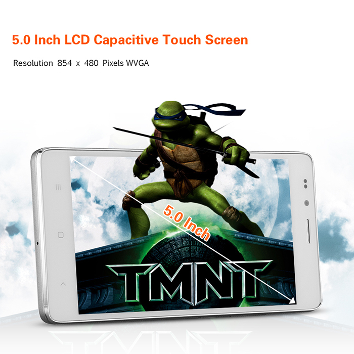5.0 inch LANDVO L500S Android 4.4 3G Smartphone with MTK6592 1.4GHz Octa Core 1GB RAM 8GB ROM Screen GPS