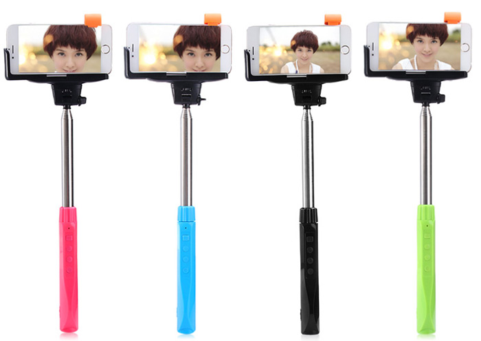 TUOPODA Z10 Wireless Ultrasonic Remote Control Selfie Monopod Camera Shutter with Mobile Power Bank Function for iPhone 6 / 6 Plus / iOS / Android Phone