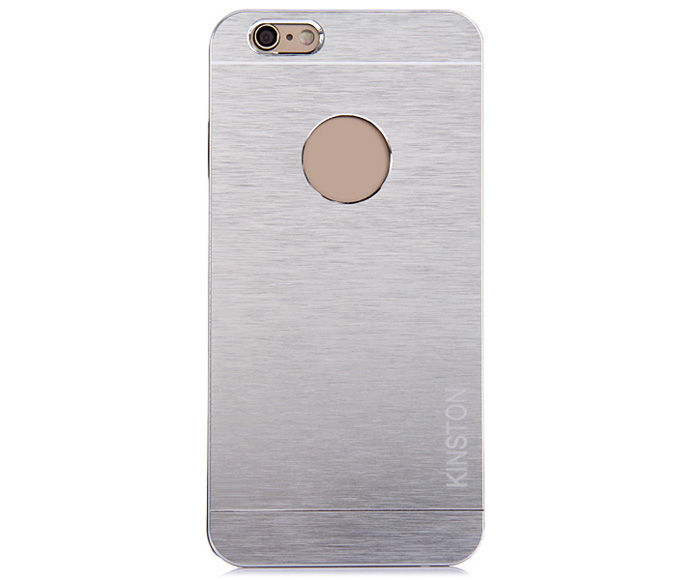 KINSTON Practical Aluminium Alloy Protective Back Cover Case with Logo Hole for iPhone 6 - 4.7 inch