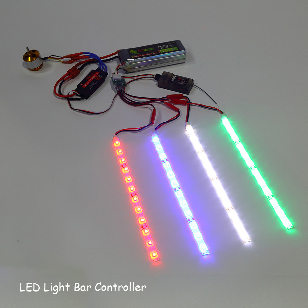 Led Light Bar Controller For Rc Quadcopter X Copter