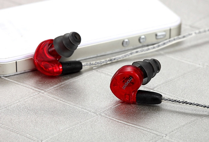 Moxpad X6 1.5m In-ear Detachable Headset Earphone with Microphone 3.5mm Jack for Mobile Phones / Tablet PC / MP3 / MP4 / Computers