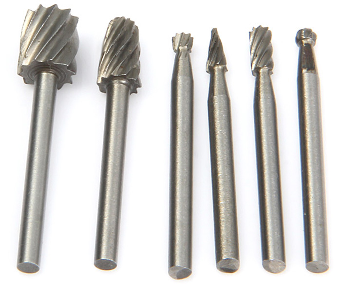 WLXY 6PCS Tungsten Steel Alloy Rotary File Set Woodwork Cutter