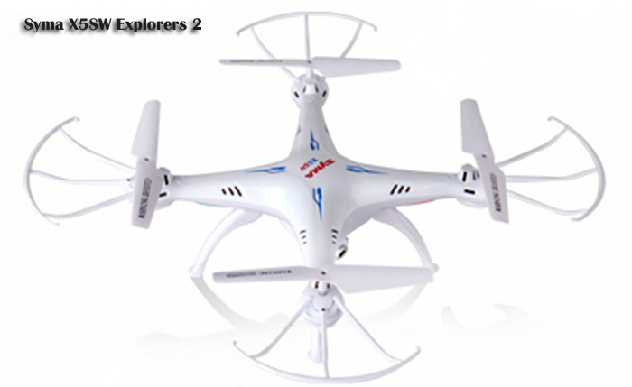 Syma X5SW Explorers 2 2.4GHz 6 Axis 4 Channel WiFi FPV RC Quadcopter with 0.3MP HD Camera RTF