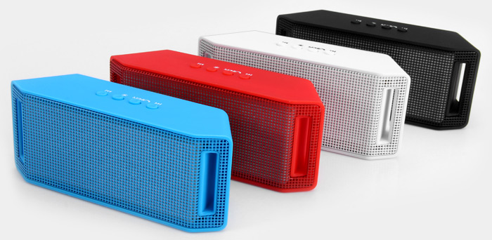 ML - 28U Wireless Bluetooth Speaker Music Play AUX Audio / USB Port Hands-free Calls Support TF Card for iPhone 6S / 6S Plus iPad Pro