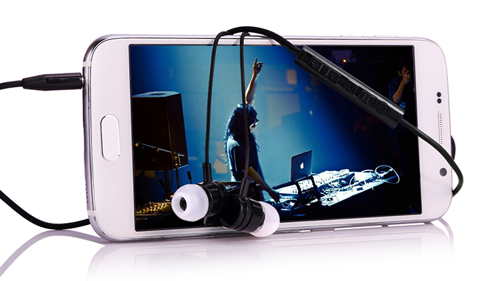 Original LANDVO S6 In-ear Earphone 3.5mm Jack Stereo Headphone 1.2m Cable with Microphone and Volume Control Key