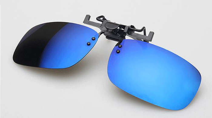 Classical Square Sunglasses Clip Sports Coating Myopia Clip for Cycling Driving Fishing Night Vision