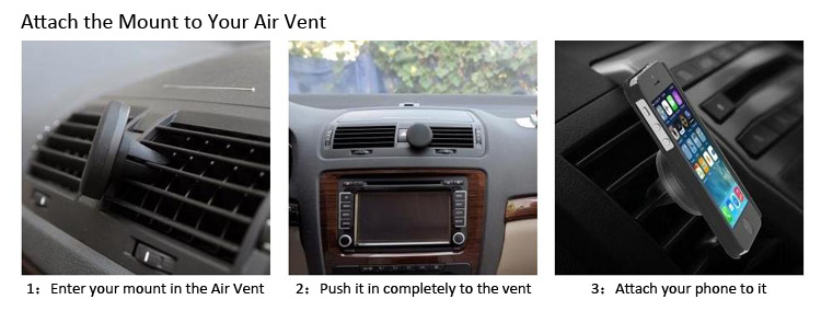 Excelvan Universal Magnetic Air Vent Car Mount Holder