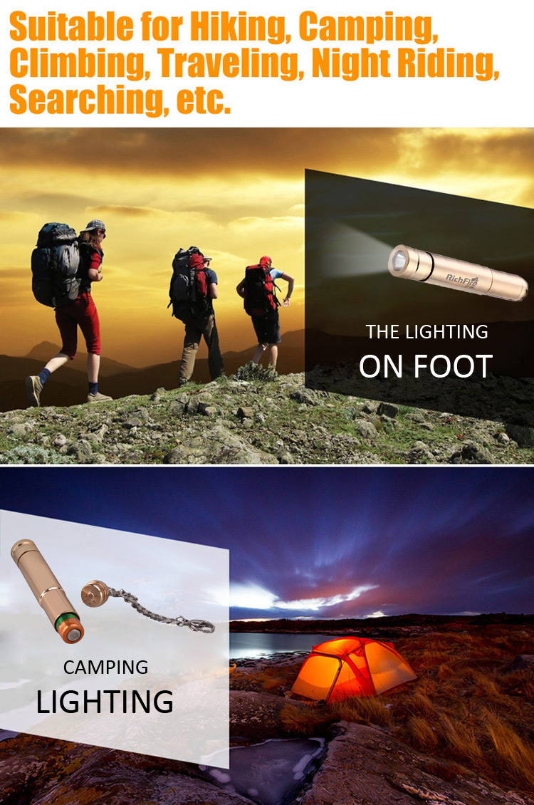 RichFire SF - 364 Cree XP-G R5 200Lm Single Mode AAA LED Flashlight Cool White Light Torch
