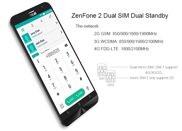 ASUS ZenFone 2 (ZE551ML) 4GB RAM 32GB ROM Android 5.0 4G LTE 5.5 inch Phablet FHD Screen Intel 64bit Z3560 Quad Core 1.8GHz 13MP + 5MP Dual Camera