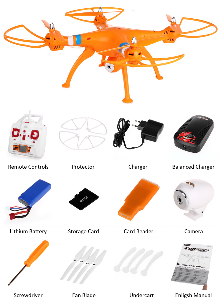 Syma X8C Venture New Package 4CH 2.4GHz 6 Axis RC Quadcopter with HD Camera + 360 Degree Eversion
