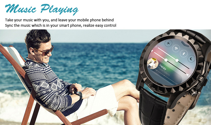 No.1 Sun S2 Circular Smart Watch Heart Rate Monitor Replaceable Band Bluetooth Dialing Information Pushing 0.3MP Camera
