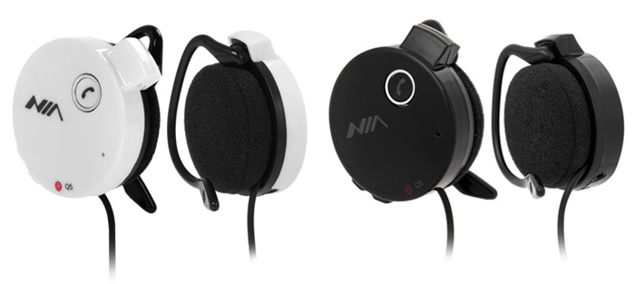 NIA Q5 Wireless Bluetooth 2.1 + EDR Headphone Sports Headset Support Hands Free TF Card FM for Smartphone