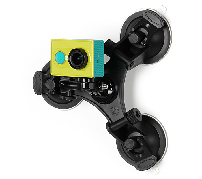 Car Window Mount with 3 Feet Suction Cup Sucker for Gopro Series / SJCAM Series / Xiaomi Yi Action Camera