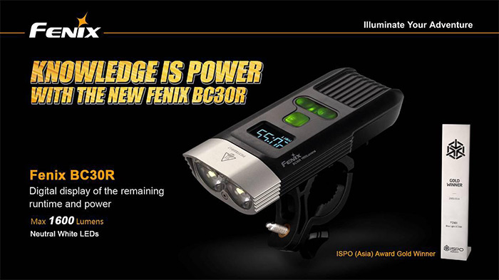 Fenix BC30R 2 x Cree XM L2 T6 1600LM Rechargeable LED Bicycle Light ( Neutral White Light )