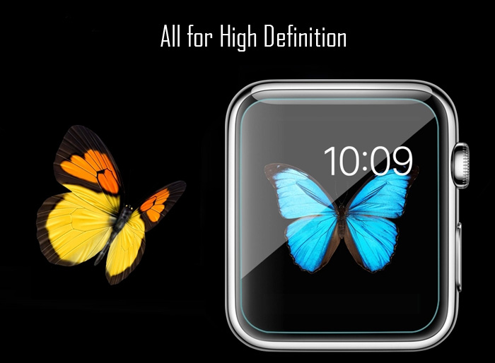 9H Toughened Glass Film High Definition 0.26mm Ultra Thin Tempered Glass Screen Protector Anti-shatter for iWatch Apple Watch 42mm