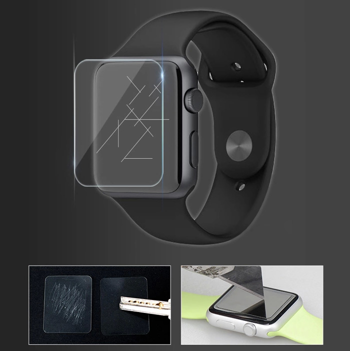 Toughened Glass Film High Definition Ultra Thin Tempered Glass Screen Protector Anti-shatter for iWatch Apple Watch 38mm