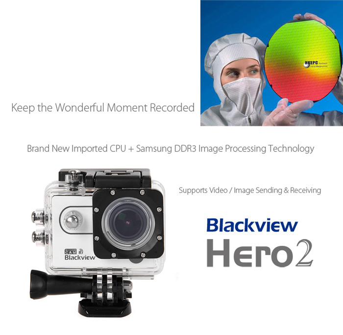 Blackview Hero 2 RF 2 inch Screen 1080P AMB A7LA50 Chipset Sports Video Camera 170 Degrees Wide Angle Lens Support 64G SD Card