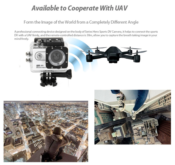 Blackview Hero 1 WIFI 2 inch Screen 1080P AMB A7LS75 Chipset Sports Video Camera Camcorder 170 Degrees Wide Angle Lens Support 64G SD Card