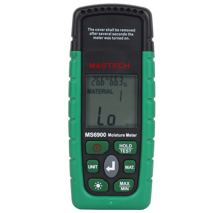 MASTECH MS6900 Moisture Tester 2-pin Humidity Temperature Detector Monitor with Backlight