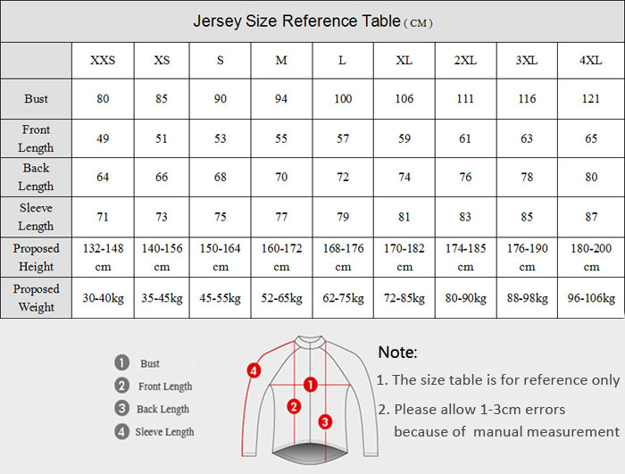 Men Breathable Long Sleeved Cycling Jersey and Pants Set Spring / Autumn Bike Riding Dress Size XXS - 4XL