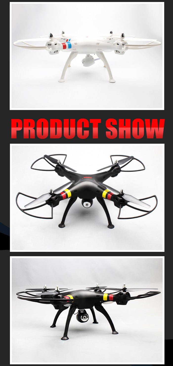 SYMA X8W WiFi FPV Headless Mode 2.4GHz 6 Axis Gyro RC Quadcopter with 0.3MP Camera 3D Roll Stumbling Function