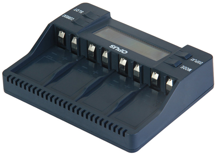 Opus BT - C900 Digital 4 Slots LCD 9V Li-ion NiMh Batteries Charger - EU Plug