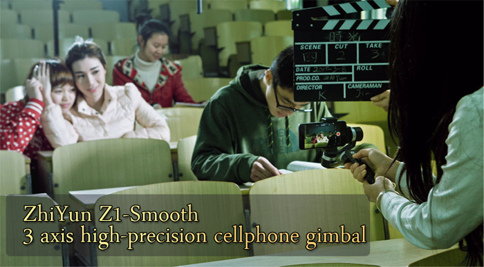 ZhiYun Z1 - Smooth Multifunctional 3 - Axis High Precision Stabilizing Gimbal for Cellphone